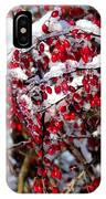 Snow Capped Berries IPhone Case