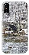 Snow Coming Down On The Wissahickon Creek IPhone Case