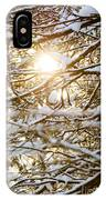 Snow Covered Branches IPhone Case