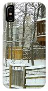 Snow Covered Fences IPhone Case