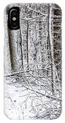 Snow Covered Forest 4 IPhone Case