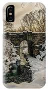 Snow-covered Glen Span Arch, Central IPhone Case