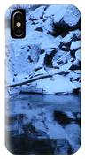 Snow Covered River Rocks IPhone Case