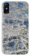 Snow Covered Tree And Winter Scene IPhone Case