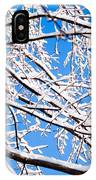 Snow Covered Tree Limb IPhone Case