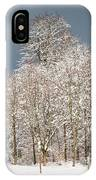 Snow Covered Trees In The Forest In Winter IPhone Case