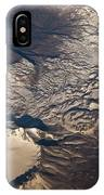Snow Covered Volcano Showing Caldera IPhone Case