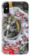 Snow Covered Wreath IPhone Case