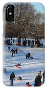 Snow Day - Fun Day At The Park IPhone Case