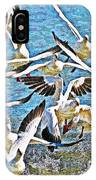 Snow Geese Panic IPhone Case