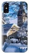Snow On Back Alley - Shepherdstown IPhone Case