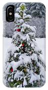 Snow On Christmas Tree 2 IPhone Case