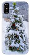 Snow On Christmas Tree IPhone Case