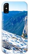 Snow On Sentinel Dome In Yosemite Np-ca IPhone Case