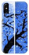 Snow On The Blue Cherry Blossom Tree IPhone Case