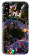 Snow On The Christmas Tree IPhone Case