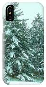 Snow On The Evergreens IPhone Case