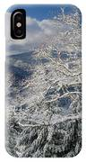 Snow Scene At Berry Summit IPhone Case