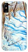 Snow Shadows IPhone Case