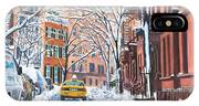 Snow West Village New York City IPhone Case