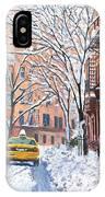 Snow West Village New York City IPhone Case