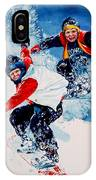 Snowboard Psyched IPhone Case