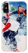 Snowboard Super Heroes IPhone Case
