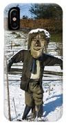 Snowcapped Scarecrow IPhone Case