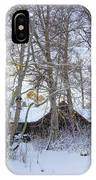 Snowed Cabin IPhone Case