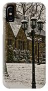Snowing At Stokesay Castle IPhone Case