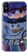 Snowman Photo Art 35 IPhone Case