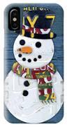 Snowman Winter Fun License Plate Art IPhone Case