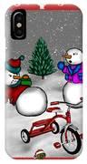 Snowmen Playing IPhone Case