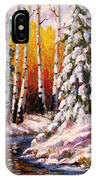 Snowy Banks IPhone Case