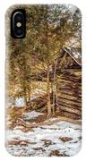 Snowy Barn IPhone Case