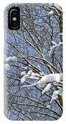 Snowy Branches With Blue Sky IPhone Case