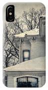 Snowy Brick House IPhone Case