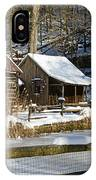 Snowy Cabins IPhone Case