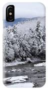 Snowy Catskill Creek  IPhone Case