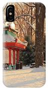 Snowy Chinese Shelter IPhone Case
