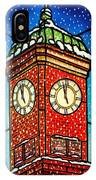 Snowy Clock Tower IPhone Case