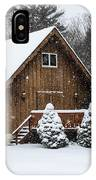 Snowy Country Cottage IPhone Case