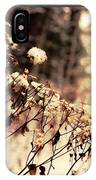 Snowy Flowes And Layers IPhone Case
