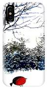 Snowy Forest At Christmas Time IPhone Case