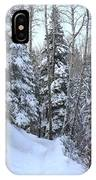Snowy Hiking Trail IPhone Case