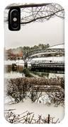 Snowy Landscape At Symphony Park Charlotte North Carolina IPhone Case