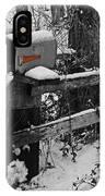 Snowy Mailbox Sc IPhone Case