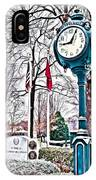 Snowy Morning - Oil IPhone Case
