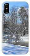 Snowy Otter Brook IPhone Case