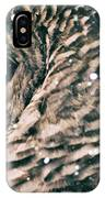 Snowy Owl In Snow Storm -- Blizzard IPhone Case